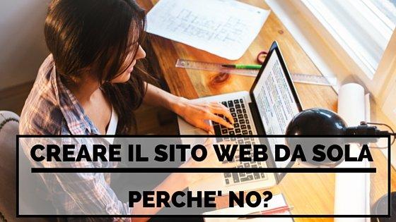 creare il sito web da sola